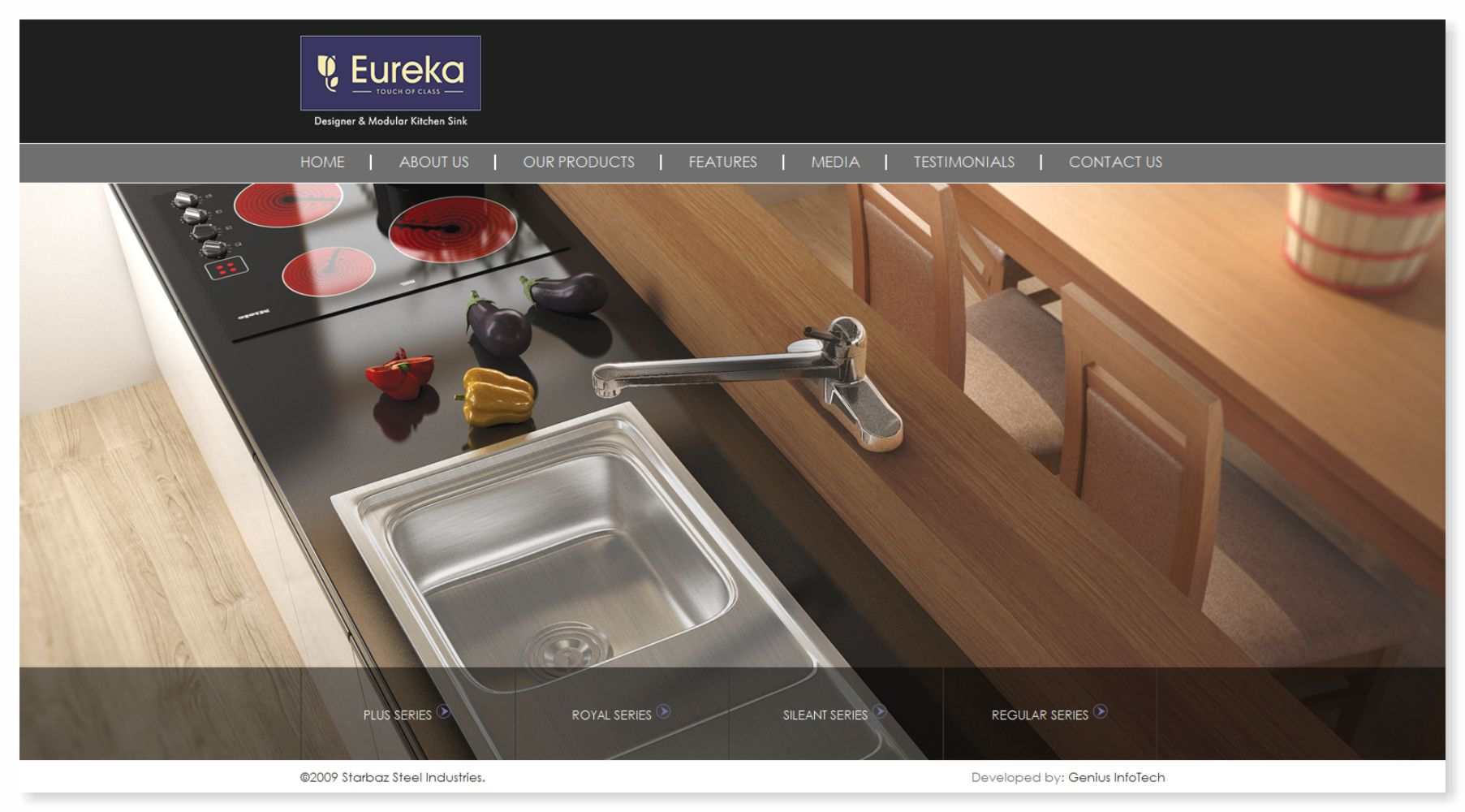 Eureka Sinks Website Design