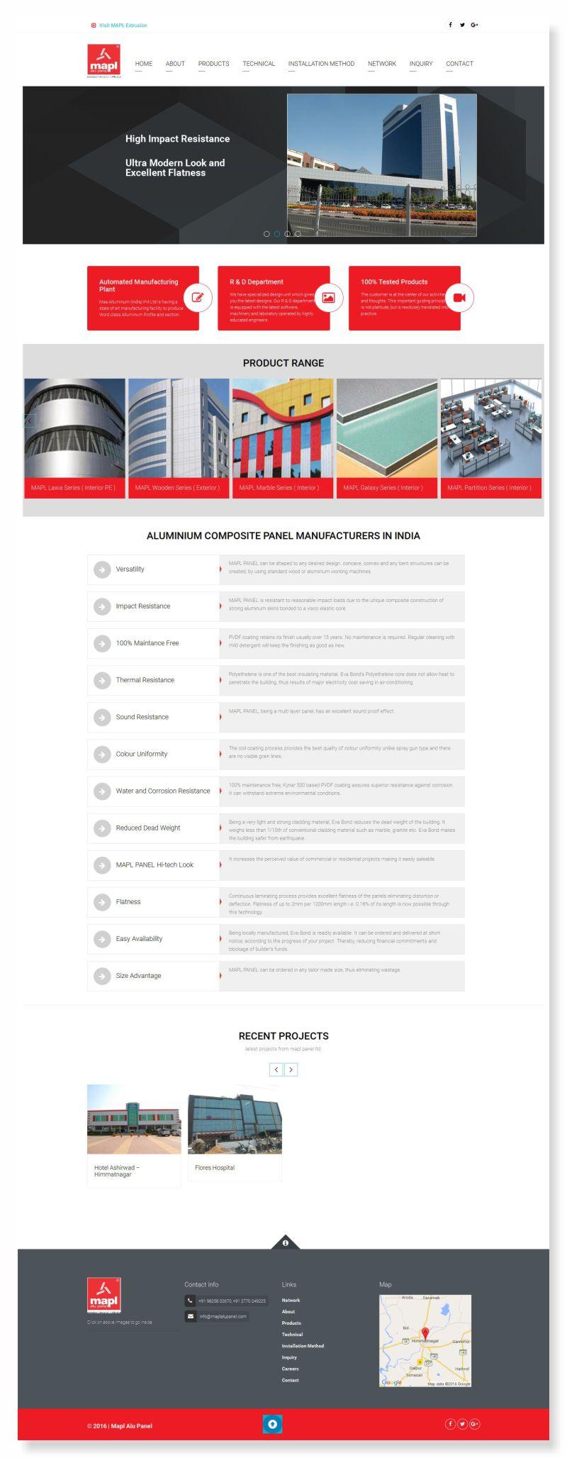 Mapl Website Design